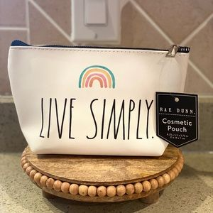 """🌈Rae Dunn """"Live Simply"""" Cosmetic Pouch🌈"""